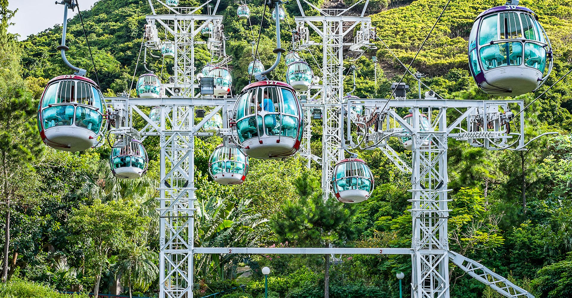 Hong Kong House Cable Car Attractions Park Experience Ocean Park