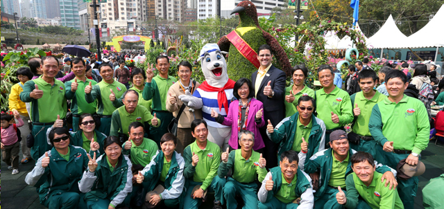 Photo 3: Members of the Ocean Park Management with the Park's Landscaping team
