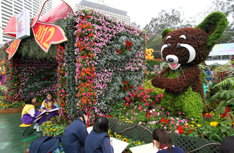 Photo 2: Red panda display at the entrance of the exhibit