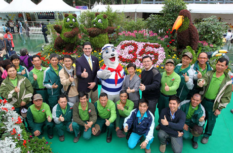 Photo 3: Members of the Ocean Park Management with the Park's Landscaping and supporting teams