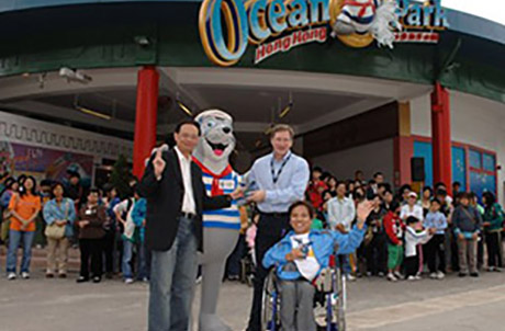 """All were there for the kick-off of the """"2006 IDDP Ocean Park Fun Day."""""""
