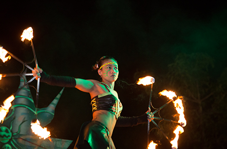 "Photo 1: Ocean Park was awarded ""Best Overall Production (US$25,000 or less)"" with ""Samsara"", an epic fire dance show presented at last year's Ocean Park Halloween Fest."