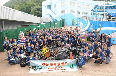 Photo 2: 156 kg of trash were collected in this year's International Coastal Cleanup
