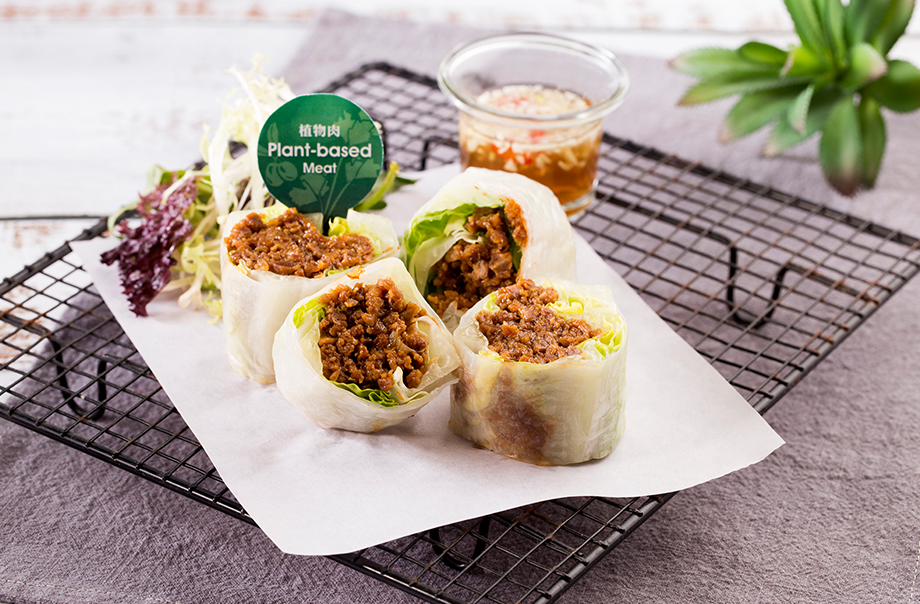Another Rice Paper Roll - With meatless ground crumble and spices as ingredients, the rice paper rolls give a fresh taste and rich texture in Vietnamese style.