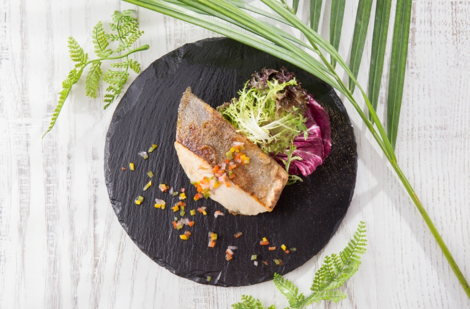 Grilled Cobia Fish Fillet with Fresh Lime