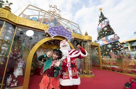 Visit Santa in his sparkling crystal house