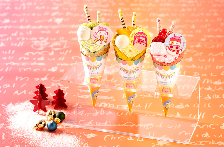 McDull Christmas Marshmallow Custard Cream Cone