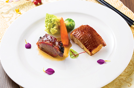 Roasted Kagoshima BBQ Pork & Tea-Smoked French Spring Chicken prepared in Chinese Royal Kitchen Way