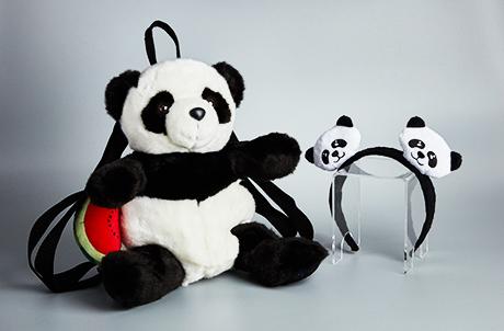熊貓西瓜背包及熊貓頭箍套裝