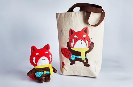 小紅熊公仔及購物袋套裝