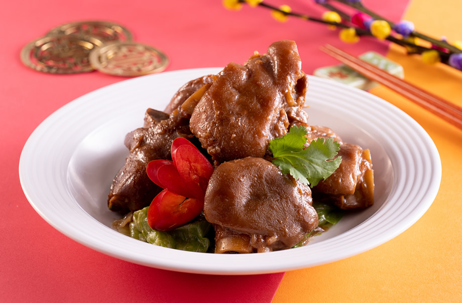 Braised Pork Knuckle with Red Fermented Bean Curd Sauce