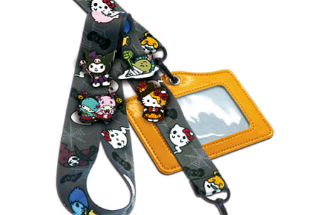Limited Edition Sanrio Characters HELLO-ween Lanyard and Pin Set