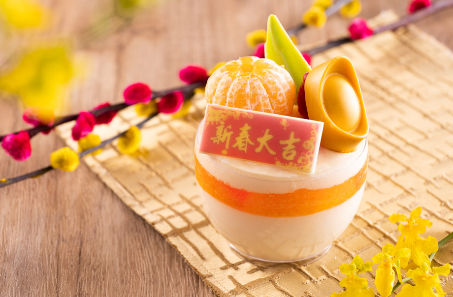 Kumquat and Passion Fruit Mousse Cup