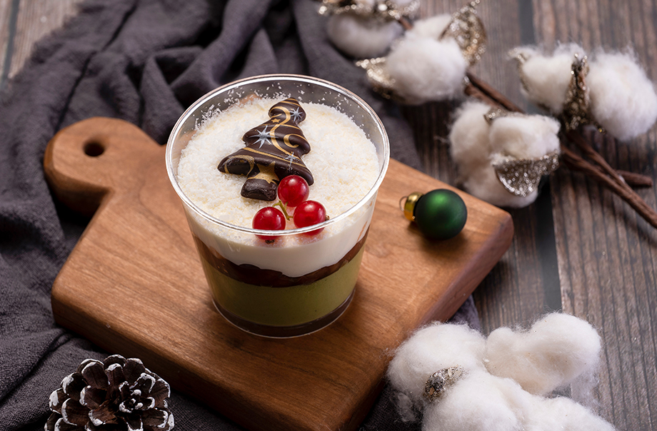 Matcha Mousse with Tokachi Red Bean