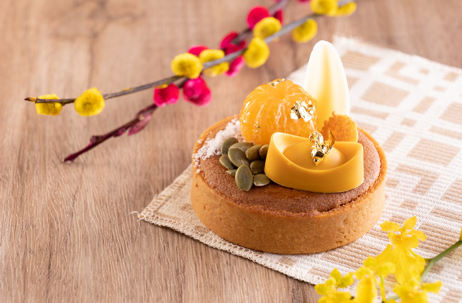 Pumpkin Seed with Almond and Kumquat Tart
