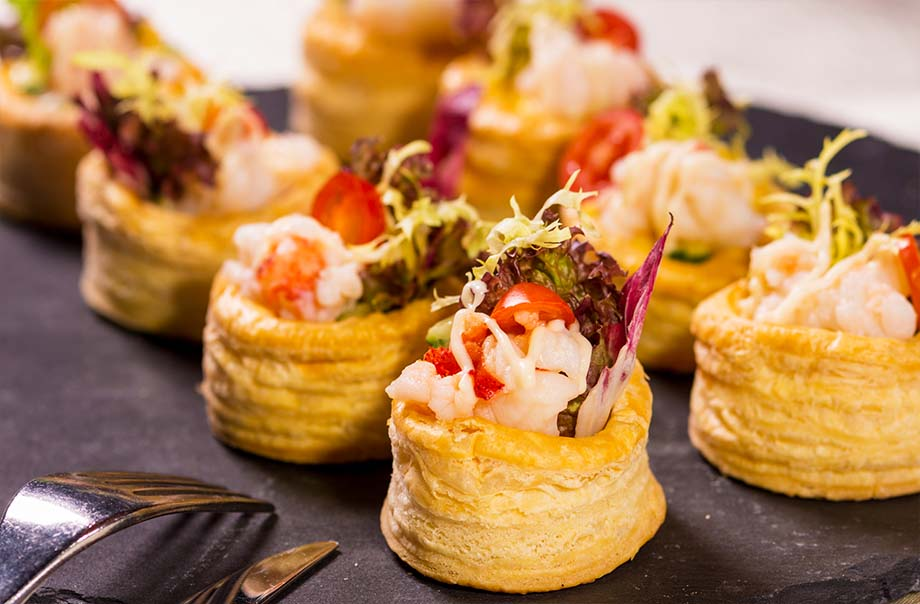 Lobster Station - Lobster with Mango in Puff Pastry Case