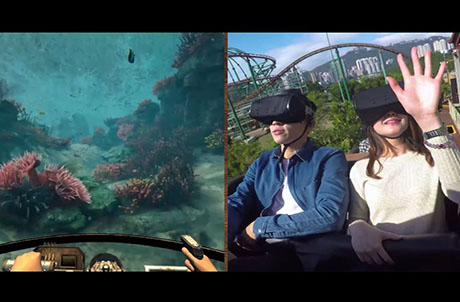 Get on the first VR roller coaster in Hong Kong! Enjoy a roller coaster in two different ways!