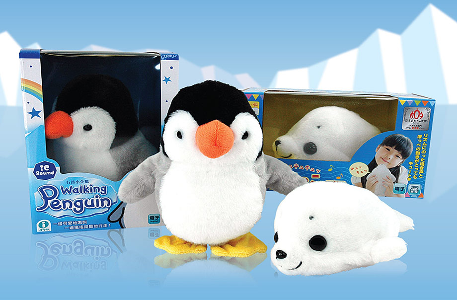 30% off on designated seal and penguin toys